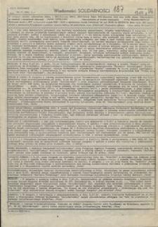 Wiadomości Solidarności, 1981, nr187