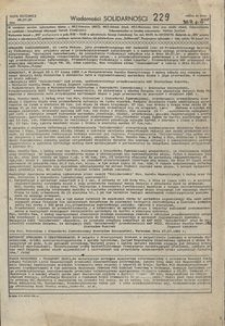 Wiadomości Solidarności, 1981, nr229