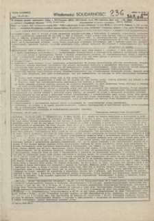 Wiadomości Solidarności, 1981, nr236