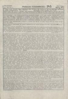Wiadomości Solidarności, 1981, nr243