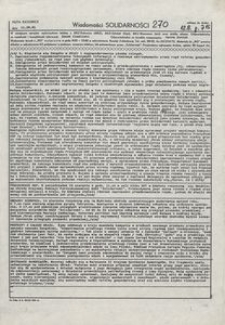 Wiadomości Solidarności, 1981, nr270