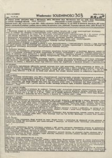 Wiadomości Solidarności, 1981, nr303
