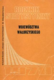 Rocznik Statystyczny Województwa Wałbrzyskiego, 1978, R.2