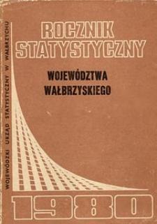 Rocznik Statystyczny Województwa Wałbrzyskiego, 1980, R.4
