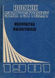 Rocznik Statystyczny Województwa Wałbrzyskiego, 1981, R.5