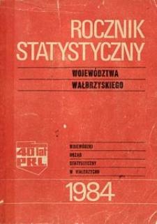Rocznik Statystyczny Województwa Wałbrzyskiego, 1984, R.6