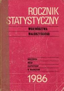 Rocznik Statystyczny Województwa Wałbrzyskiego, 1986, R.8