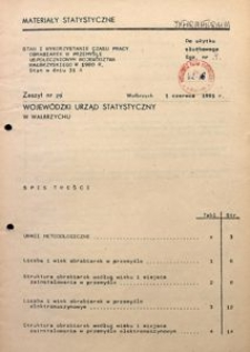 Stan i wykorzystanie czasu pracy obrabiarek w przemyśle uspołecznionym województwa wałbrzyskiego w 1980 r. Stan w dniu 31 X