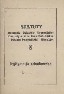 Statuty Zrzeszenia Związków Ewangelickiej Młodzieży a. w. w Kraju Mor.-Śląskim i Związku Ewangelickiej Młodzieży, [1937]