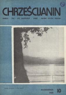 Chrześcijanin, 1985, nr 10