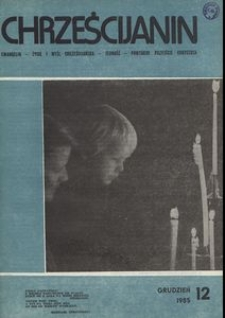 Chrześcijanin, 1985, nr 12