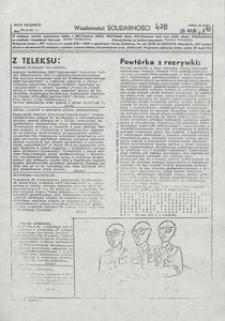 Wiadomości Solidarności, 1981, nr478