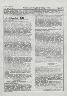 Wiadomości Solidarności, 1981, nr502