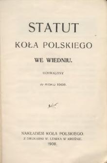Statut Koła Polskiego we Wiedniu