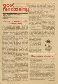 Gość Niedzielny, 1972, R. 41, nr 5