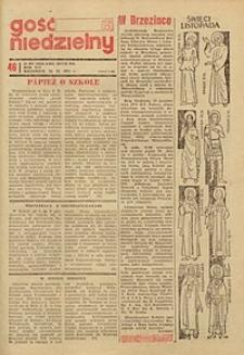 Gość Niedzielny, 1972, R. 45, nr 46