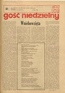 Gość Niedzielny, 1975, R. 48, nr 32