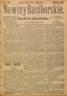 Nowiny Raciborskie, 1902, R. 14, nr 53