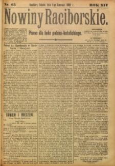 Nowiny Raciborskie, 1902, R. 14, nr 65