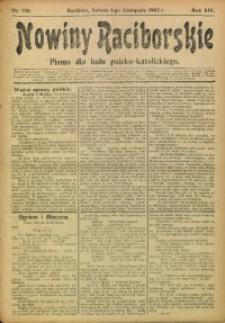 Nowiny Raciborskie, 1902, R. 14, nr 128