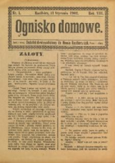 Ognisko Domowe, 1902, R. 8, nr 1