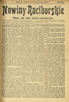 Nowiny Raciborskie, 1904, R. 16, nr 25