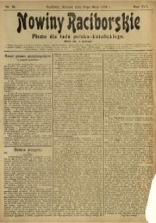 Nowiny Raciborskie, 1904, R. 16, nr 58