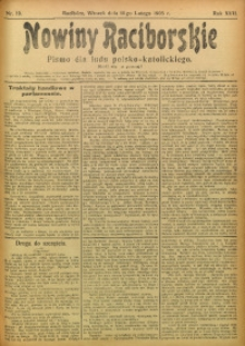 Nowiny Raciborskie, 1905, R. 17, nr 19
