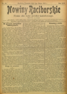 Nowiny Raciborskie, 1905, R. 17, nr 26