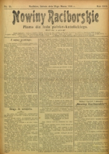 Nowiny Raciborskie, 1905, R. 17, nr 33