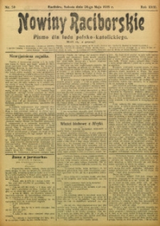 Nowiny Raciborskie, 1905, R. 17, nr 59