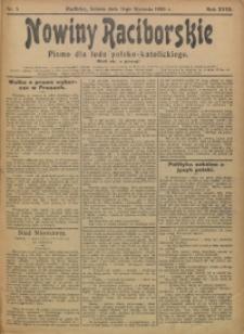 Nowiny Raciborskie, 1906, R. 18, nr 5