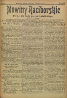 Nowiny Raciborskie, 1907, R. 19, nr 42