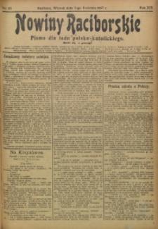 Nowiny Raciborskie, 1907, R. 19, nr 43