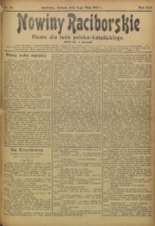 Nowiny Raciborskie, 1907, R. 19, nr 54