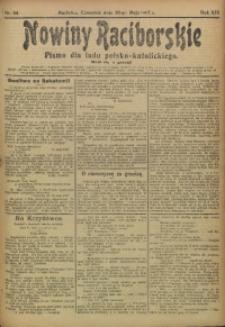 Nowiny Raciborskie, 1907, R. 19, nr 64