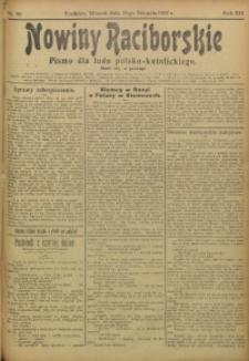Nowiny Raciborskie, 1907, R. 19, nr 96