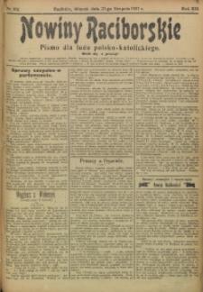 Nowiny Raciborskie, 1907, R. 19, nr 102