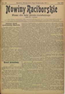 Nowiny Raciborskie, 1907, R. 19, nr 129