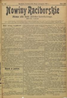 Nowiny Raciborskie, 1907, R. 19, nr 143