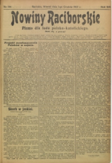 Nowiny Raciborskie, 1907, R. 19, nr 144
