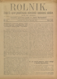 Rolnik, 1907, R. 14, nr 5