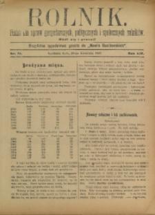Rolnik, 1907, R. 14, nr 16
