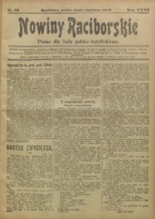 Nowiny Raciborskie, 1919, R. 31, nr 73