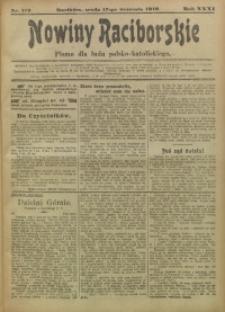 Nowiny Raciborskie, 1919, R. 31, nr 112