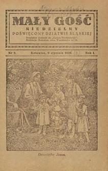 Mały Gość Niedzielny, 1927, R. 1, nr 2