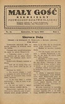 Mały Gość Niedzielny, 1927, R. 1, nr 15