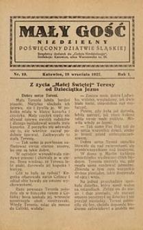 Mały Gość Niedzielny, 1927, R. 1, nr 19