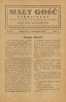 Mały Gość Niedzielny, 1927, R. 1, nr 23