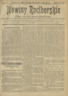 Nowiny Raciborskie, 1920, R. 32, nr 50